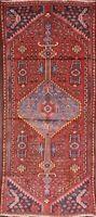 Vintage Geometric Tribal Hamedan Area Rug Hand-knotted Oriental Foyer Carpet 3x6