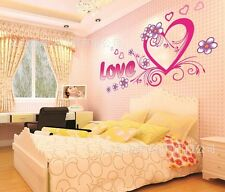 Large Pink Love Heart Wall Sticker Decal Vinyl Art Home Kids Room Decor 90*60CM
