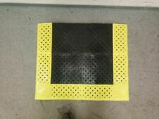 Notrax 520S3036BY 3 Ft L 30 In W 7/8 In Thick Vinyl Black/Yellow Drainage Mat