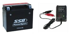 YTX12-BS Battery & Charger Suzuki VL800 Hayabusa GSXR1000 GSX1300R GSF1200 12V