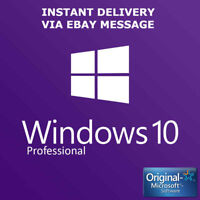 INSTANT WINDOWS 10 PROFESSIONAL PRO 32|64 BIT GENUINE ACTIVATION KEgggY LICENSE