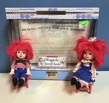RAGGEDY ANN & ANDY Kelly Tommy Dolls w/ Box Barbie Collectibles Mattel Exc Cond