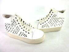MIA GOLD RUSH WOMEN'S FASHION COMFORT SNEAKERS WHITE CANVAS SYNTH US SIZE 8 MED