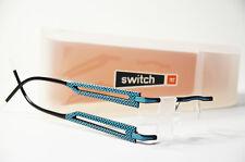 Switch it 2336 Wechselbrille Damen randlos Kunststoff schwarz türkis Brille Neu