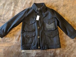 NWT GAP boys wool combo jacket size S
