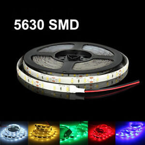 DC12V 16ft 1-5M 5630 waterproof 300 LED Light Strip Flexible Ribbon 3M Tape lamp