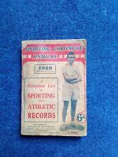 Sporting Chronicle Annual 1928 All Sports Racing Golf Athletics Football Etc Etc