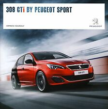Peugeot 308 GTi 08 / 2015 catalogue brochure A.M 2016