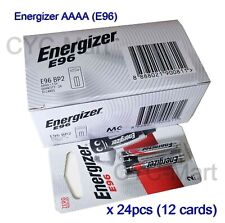 Energizer AAAA E96 4A Alkaline Battery x 1 Box of 24pcs Free registered post