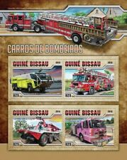 Fire Engines Transport Firefighters Feuerwehrleute Guinea-Bissau MNH stamp sheet