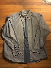 d48ce1361c1 Replay Italy Mens L Blue Denim Button Up Shirt Long Sleeve Floral  Embroidery.  45.50. + 9.30 shipping. Make Offer · Replay Denim Shirt size X- Large
