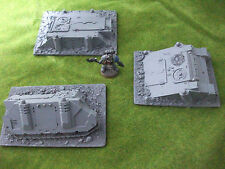 Warhammer 40k Terrain scenery Tank Rhino Rasoir Predator engloutie