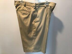 Nike Golf Dri-Fit Shorts Size 34 Mens Khaki Color
