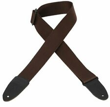 Levy's Guitar Strap Polypropylene with Leather Ends - Brown