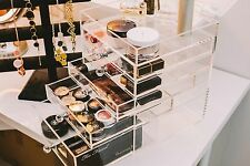 *Storia* Acrylic Makeup Organizer with Chic Crystal Knob 6 tier
