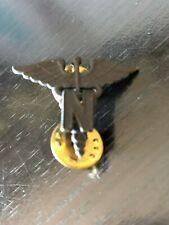 Vintage N Nurse Pin Pinback Lapel Pin Hat Pin Black Metal