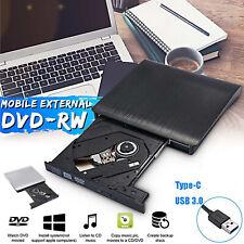 USB 3.0 Externes CD/DVD Laufwerk Brenner Player Slim für Laptop Desktop Mac NEU