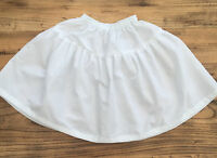 Short White Cotton Skirt Petticoat - Made to Measure