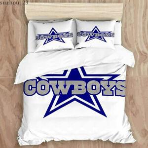 Dallas Cowboys Bedding Set 3PCS Duvet Cover Pillowcase Quilt Comforter Cover