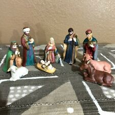 Holiday Times 9 Hand Painted Porcelain Nativity Figures
