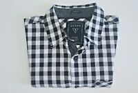 Guess Men's Slim Fit Check Short Sleeve Shirt Size XS