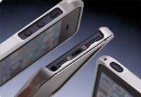 Apple iPhone 5S / 5 Aluminium Bumper | Cover Schutzhülle Case Alu Tasche silber