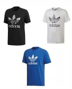Adidas T-Shirt  3-stripes Trefoil T-Shirt Herren freizeitshirt spurt T-shirt