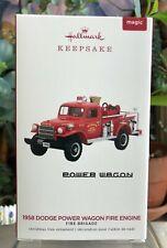 Hallmark Ornament-1958 Dodge Power Wagon FIRE ENGINE-Series #17-Features Light