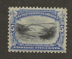 US Stamp #297 1901 Ultramarine & Black 5 Cent Pan-Am Issue Mint NH SCV $180