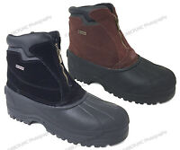 Men's Winter Snow Boots Leather Zipper Thermolit Insulated Waterproof Warm Shoes
