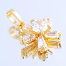 LIA005-Hot Womens Fashion Jewelry 18k GOLD Plated Crystal  Sun/Flower Pendant