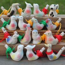 Chinese Ceramic Bird Whistle Cardinal Vintage Style Water Warbler Novelty Toys