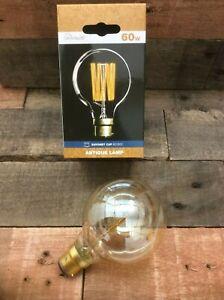 Pack of 2 x Round 60w B22 BC Antique Vintage Retro Edison Filament Light Bulbs