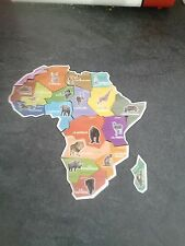 Carte d'Afrique Ani Magnet Brossard complète de 19 magnets neufs