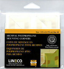 Lineco Full View Corners 48 pcs., Size: 1.25 in. Mount photos EZ  (bin801-A)