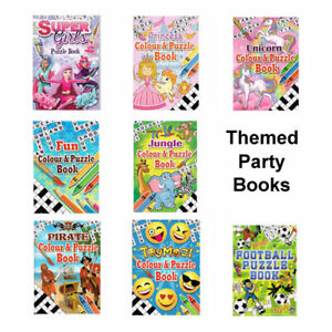 Childrens Colouring Activity Party Books, Kids Girls Boys A6 Party Bag Fillers