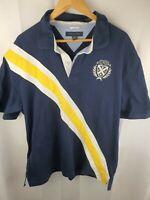 TOMMY HILFIGIER Blue Polo T-shirt Top  Mens Size XXL