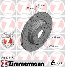 150.1281.50/150.1281.52, ZIMMERMANN Brake Disc Rotor SPORT COAT Z BMW E38 & E31