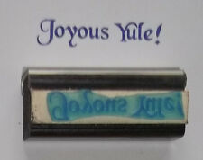 Joyous Yule! rubber stamp by Amazing Arts Christmas Xmas Winter