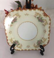 "Noritake China Cardinal Plate Luncheon Salad 193 Floral Gold Rim #99829 7 3/4"""