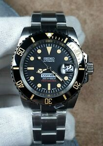 CUSTOMISED SUBMARINER STYLE DIVERS WATCH MOD SEIKO NH36 MOVEMENT SKX