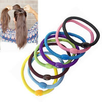 10 Hair Bobbles Elastic Scrunchies Rubber Bands Tie Scrunchy Ponytail Hold Girls