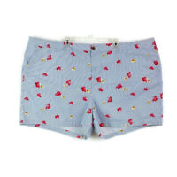 Old Navy Womens sz 30 Plus Blue White Stripe Red Floral Everyday Shorts Chino