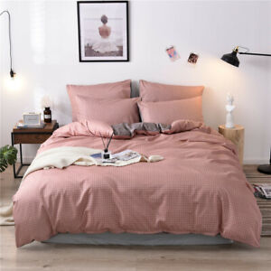 Large Soft Duvet Quilt Cover Bedding Set With Pillowcase Single Double