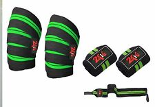 2Fit Knee and Wrist Wrap Grip Bandage Pads Weight Lifting Crossfit Gym Training
