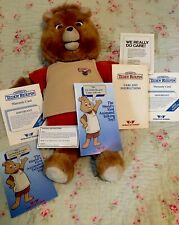 Vintage 1985 Teddy Ruxpin Talking Bear for Parts/Repair W/Instructions Paperwork