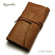 "Pilot (NAMIKI) pen case ""Pensemble"" five pens leather pen wrap Brown New!!"