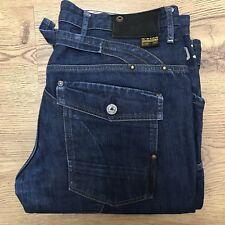 "G Star Raw Mens Elwood 07 Loose Blue Denim Jeans Waist 36"" Inside Leg 34"""