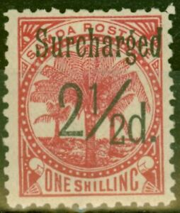 Samoa 1898 2 1/2d on 1s Dull Rose-Carmine SG86 Fine Mtd Mint (10)