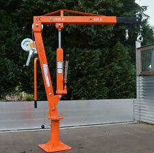 1000 lb Winch Swivel Lifting Crane for trailers vans garages workshops